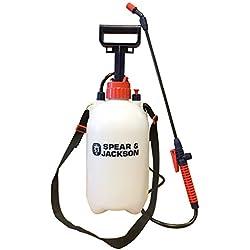Spear & Jackson 5LPAPS Spruzzatore a pressione con pompa, 43 x 18 x 42 cm, Bianco
