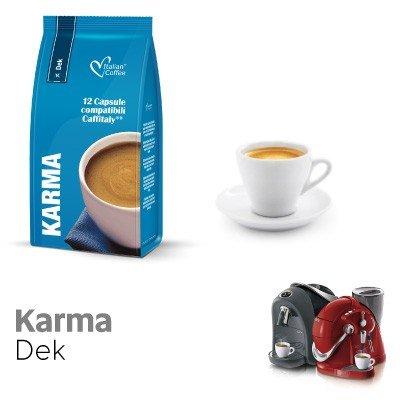 CAFFITALY 96 capsule caffè compatibili miscela decaffeinato KARMA Italian coffee