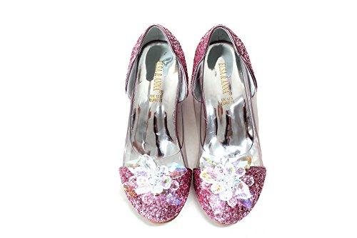 ELSA & ANNA Ultimo Design Buona qualità Ragazze Principessa Regina delle Nevi Gelatina Partito Scarpe Sandali PNK16-SH (PNK16-SH, Euro 30-Lunghezza 20.1cm)