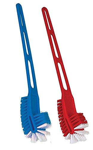 UVA Plastic Toilet Brush (Multicolour) -2 Pieces Set