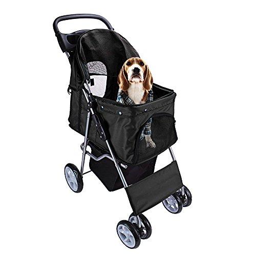 DISPLAY4TOP travel-cinghia cane gatto passeggino Jogger passeggino con 4 ruote