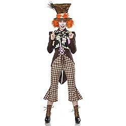 shoperama Super Deluxe Mad Hatter para Disfraz de Mujer del Sombrerero Loco de Alicia en el país de Las Maravillas
