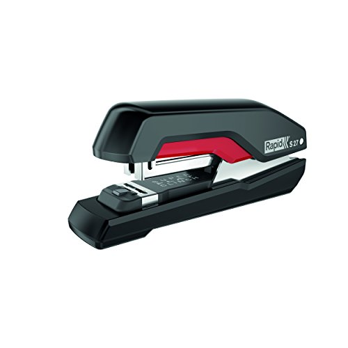 RAPID S27 SUPREME - cucitrice desktop - 30 fg - Punto 24/6 - 26/6 - Half Strip - Nero / Rosso -...