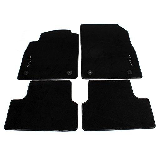 Accessori originali Opel, set di tappeti in velluto nero per modelli Astra J 2009