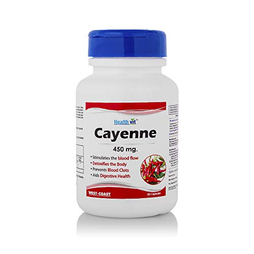Healthvit Cayenne 450 Mg Capsules - 60 Count