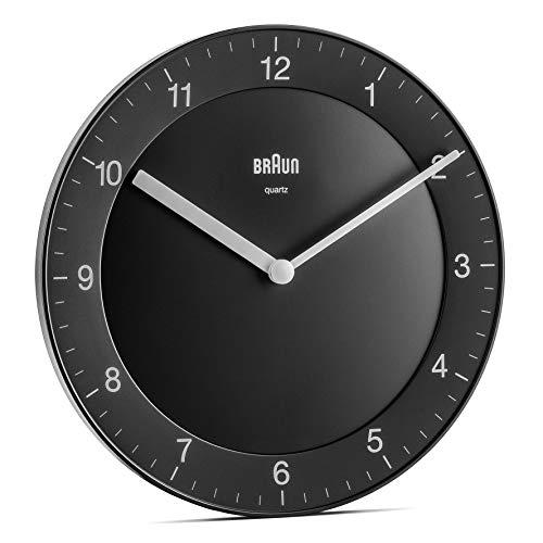 Braun BC06B Orologio da Parete Analogico Classico, Diametro di 20 cm, colore nero.