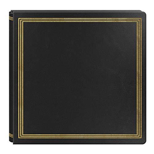 Large Magnetic Page X-Pando Photo Album, Black