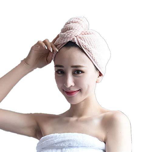 Gshy - Toalla de Pelo Absorbente para Mujer, de Microfibra, Secado rápido, Gorro para baño, Ducha, Viaje, SPA, Lavar, pelos o Piscinas