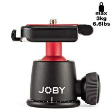 "Joby BallHead 3K 1/4"" Pelota Negro, Rojo Cabeza de tripode - Cabeza para trípode (7 mm, 144 g, Acrilonitrilo butadieno estireno (ABS), Aluminio, Acero Inoxidable, Acero, Elastómero, Negro, Rojo)"