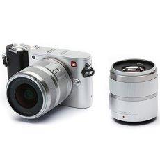"'Yi M14K vídeo 20MP Mirrorless cámara digital con 12–40mm ""F3.5–5.6lente/42.5mm f1.8lente Hielo Plata"