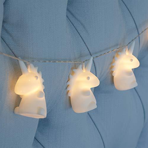 GloBrite - Striscia di 10 luci a LED a forma di unicorno, per camera da letto e cameretta dei...