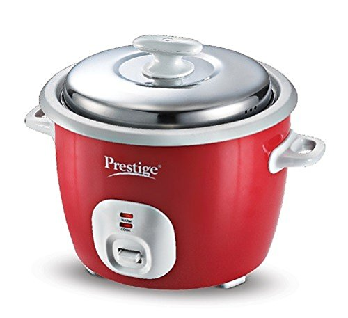 Prestige Delight Electric Rice Cooker Cute 1.8-2 (700 watts) with 2 Aluminium Cooking Pans