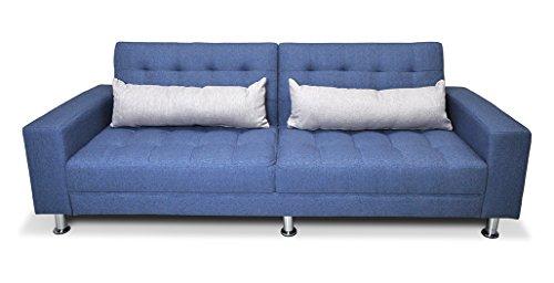 Samira Divano letto in tessuto blue cobalto - divano 3 posti mod. Giulia