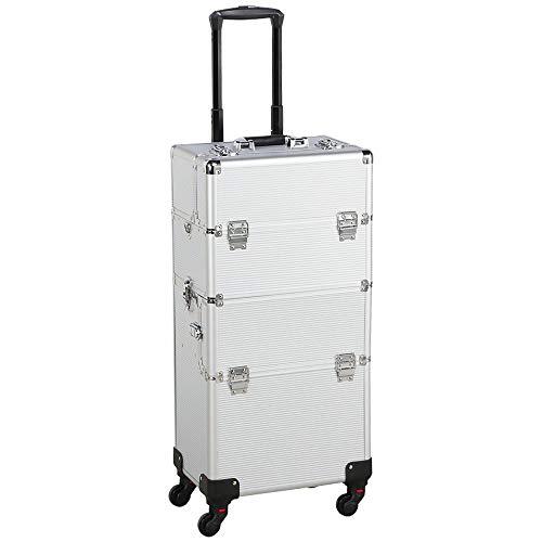 YaheetechValigetta/Trolley Trucchi Telaio in Alluminio Beauty Case Make Up da Viaggio per...