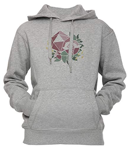 Erido-Pretty-Poly-Rose-DND-Unisex-Mens-Womens-Hoodie-Sweatshirt-Pullover-Grey