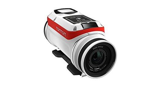 TomTom Bandit Action Camera 4K, 16 MP, 1080p/60 fps, 720p/120 fps, GPS, Sensori Integrati, Wi-Fi, Impermeabile, Bianco/Rosso