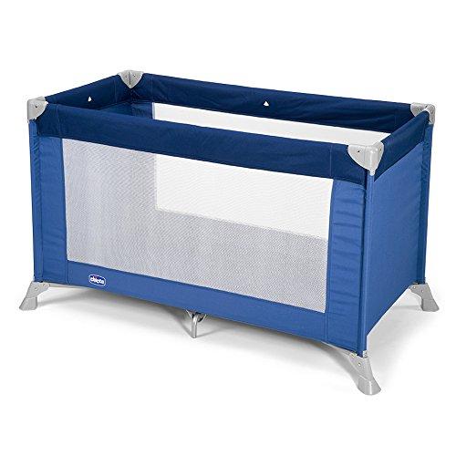 Chicco Goodnight - Cuna de viaje ligera, con cierre de paraguas, 8 kg, color azul
