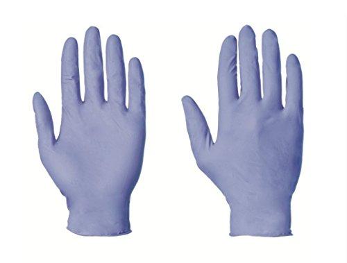 Guanti usa e getta in nitrile, senza polvere,100 pezzi, colore: blu chiaro, t