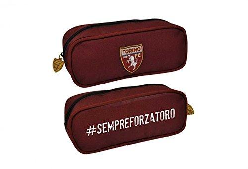 Portapenne ovale Torino Calcio Sempre Forza Toro 10x25x8