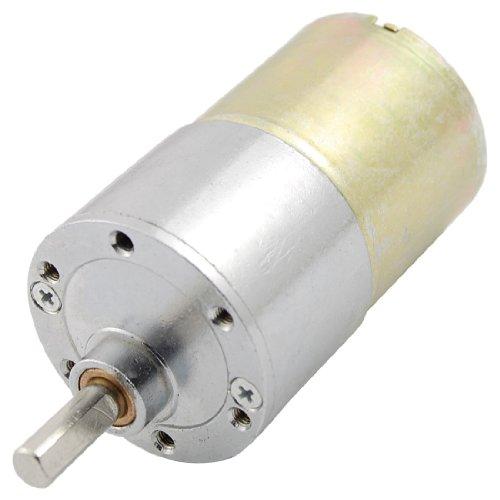 Motore a coppia elevata magnetico - DC 12V 130mA 50RPM 4,32Kg/cm - Nome prodotto: motoriduttore; tensione nominale: DC 12V; corrente nominale: 130mA - Coppia nominale: 4.32Kg.cm; velocità nominale: 50 RPM; misura albero: 15 x 6mm (LxD) - Lung...