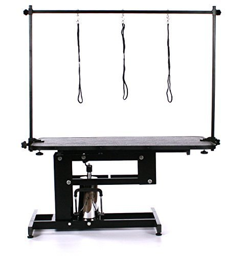 Do you have many pets in your keep? The Pedigroom Large Professional Heavy Duty Hydraulic Dog Grooming Table will help you keep them at their best.  We can actually consider this the best dog grooming table. With adequate space and a number of nooses to use, you can cater to several pets at a time. The price may set you back a bit but think of it as a long-term investment. Once you get it, you can rest easy knowing that you don't have to buy another grooming table anytime soon. For those with giant dogs, you may want to find a bigger grooming table. If your pet is not gigantious then this table will offer you more service than frustrations.