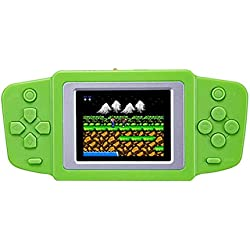"""Kasit 1PC 2.5"""" LCD Handheld Portable Vedio Game Console Built-in 268 Classic Games Children's Puzzle Video Game Console Best Gift for Kids - Green"""