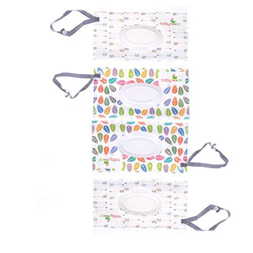 NIU MANG 4pcs riutilizzabili Wet Wipe Pouch Travel Wet Wipe case per salviette Baby Eco friendly Wipe Pouches