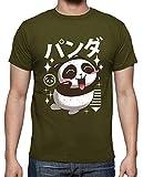 latostadora - Camiseta Kawaii Panda Camisa para para Hombre Army XXL