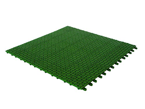 Multiplate 03MPVE Piastrelle Flessibili, Plastica, 55.5 x 55.5 cm, Verde