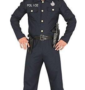 FIESTAS GUIRCA Disfraz de Policía Hombre Adulto Talla M 48-50