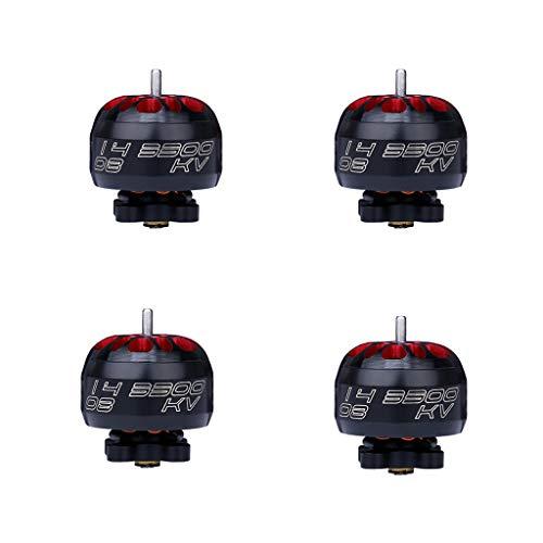 Chshe - Drone Con Videocamera Hd, 4Pcs Iflight Xing 1408 4300Kv 2-4S Motore Brushless Per Fpv Rc...