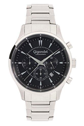 Gigandet Herren-Armbanduhr Sport Chronograph Quarz mit Edelstahlarmband G48-006