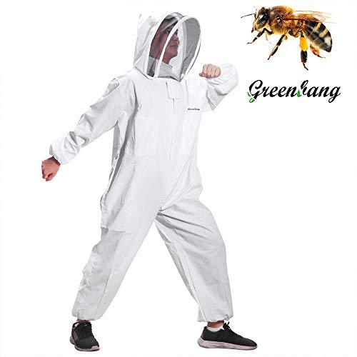 Greenbang Tuta da apicoltore, Tuta apribile super spessa Tuta da recinzione pieghevole da velo Tuta...