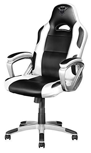 Trust GXT 705W Ryon Sedia Gaming Ergonomica, Progettata per Offrire Ore di Confortevoli Sessioni di Gioco, Bianco