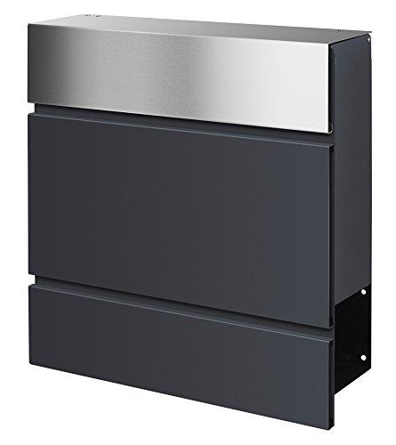 Frabox LENS Edelstahl / Anthrazitgrau Design Briefkasten