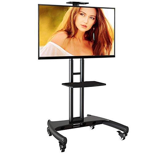 AVA1500B - Supporto TV da pavimento con ruote Carrello Staffa Porta Mobile Supporto per schermi da...