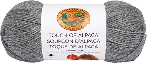 Lion Brand Yarn 124-150 Touch of Alpaca Bonus Bundle Yarn, Oxford Grey