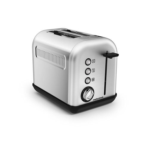 Morphy Richards 222003Accents Tostapane 2fette, 850W, azure Parent–in acciaio inox...