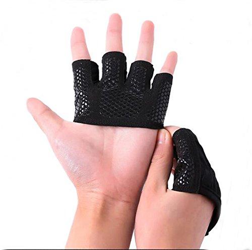 Guanti fitness yoga Four finger guanti guanti da palestra per donne uomini guanti da allenamento...