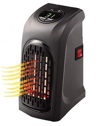 GoRishi Mini Electric Portable Handy Air Room Fan Heater (Black)