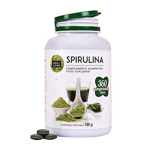 Spirulina naturale/Migliora le tue prestazioni fisiche/Aumento di energia e vitalità/Fonte di proteine / 360 compresse