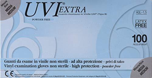Guanti in Vinile, senza Polvere, 100 Pezzi, M