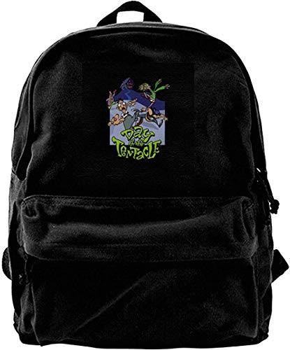 Homebe Zaino Canvas Backpack Day of The Tentacle Rucksack Gym Hiking Laptop Shoulder Bag Daypack for...