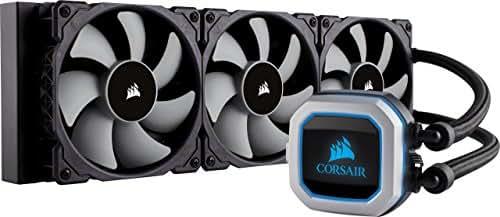 CORSAIR Hydro Series H150i PRO RGB CPU-Flüssigkeitskühlung (360-mm-Radiator, drei ML Series 120-mm-PWM-Lüfter, RGB-Beleuchtung und Lüfter, Intel 115x/2066 und AMD AM4 kompatibel)