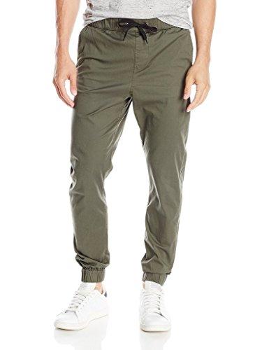 Krystle Light Green Slim Fit Joggers Men's Jogger Pants (32)