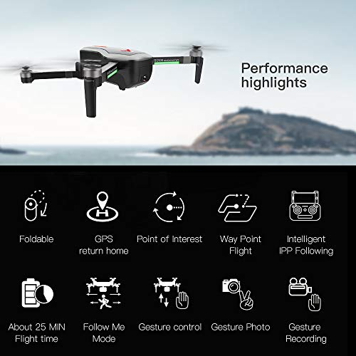 Leslaur SG906 GPS Brushless 4K Drone con Fotocamera Borsa 5G WiFi FPV Pieghevole Flusso Ottico di Posizionamento Altitude Hold RC Quadcopter
