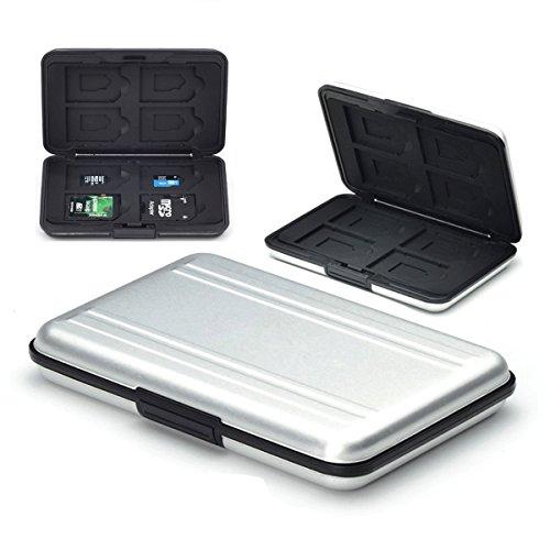 Flycoo - Custodia per schede di memoria, protezione antiurto e antipolvere, impermeabile,...