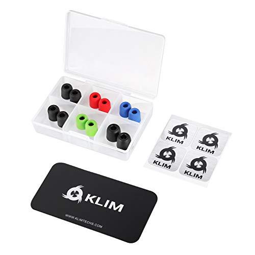 KLIM Cuscinetti per Auricolari 4.5mm– NUOVI – Memory foam – 12 Cuscinetti – Estremamente...