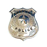 Silver Police Badge Police Badge for Fancy Dress Accessorie or Party Favour