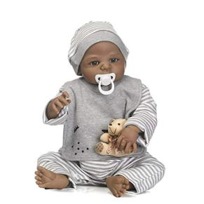Pinky Reborn Realistic Newborn Baby Doll 23 Pulgadas 57 cm de Cuerpo Completo de Silicona Real Life Like Reborn Doll Vinilo Suave Imán Impermeable Chupete Niño
